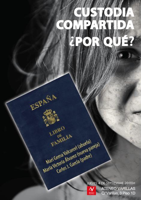 "Cartel de la Charla ""Custodia compartida"""