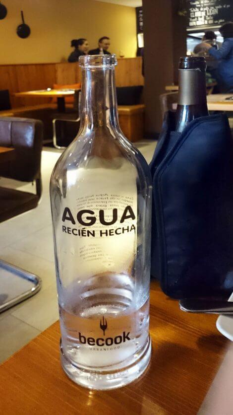 Agua recien hecha