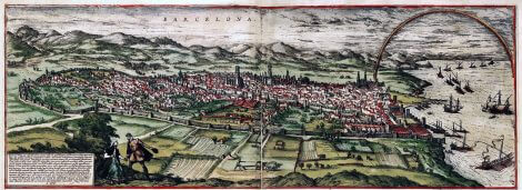 Vista de Barcelona 1535_Civitatis Orbis Terrarum