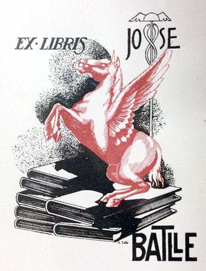 Exlibris #297 Pegaso y caduceo de Hermes | Yoryo: exlibris, viajes ...